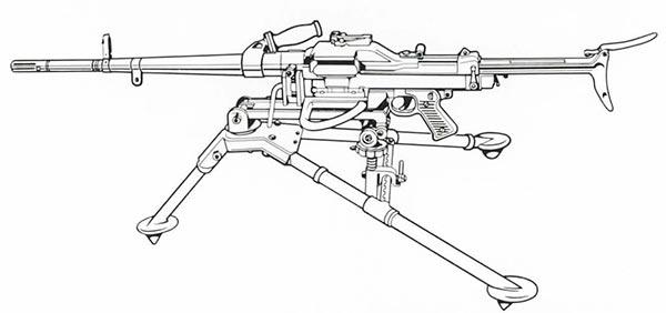 Ametralladora MAS AA-52 7.5/7.62 mm, 1952 (Francia)