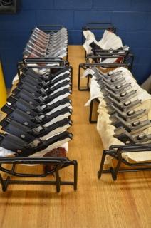 Пистолеты Кольт М1911 подготовленные для контрольных стрельб