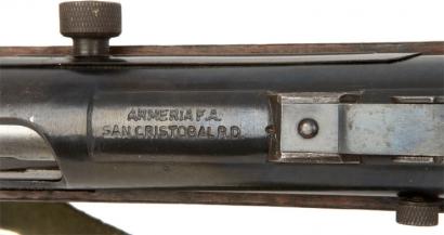 Заводская маркировка на карабине Cristóbal