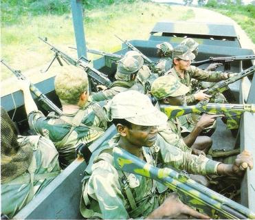 Камуфлированная автоматическая винтовка G3, Родезия 1970-е