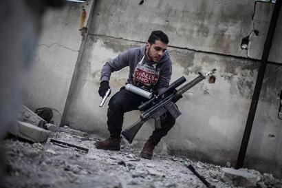Автоматическая винтовка G3 в Сирии, 2013 год