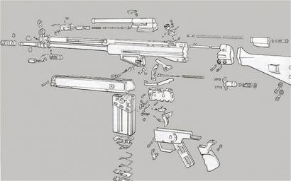 Основные узлы и механизмы автоматической винтовки G3