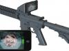 AR15 с установленным iPhone