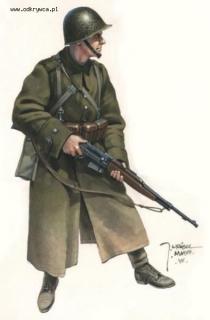 Польский солдат с винтовкой  Kbsp wz.38M