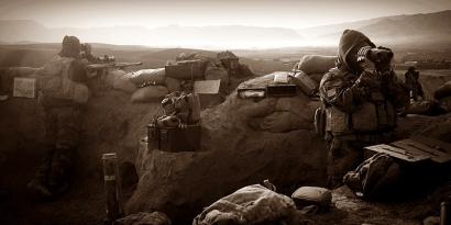Команда Следопыт 4-й день дежурства на холме