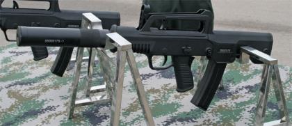 Бесшумный пистолет-пулемет QCW05 калибром 5.8 мм, Китай