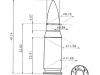 Размеры аргентинского патрона 7,62х33 мм