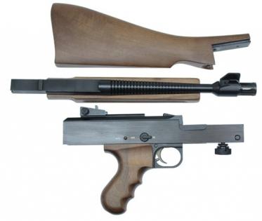 Пистолет-пулемет  AM180 в разобранном состоянии
