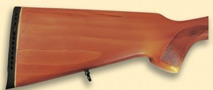 Приклад карабина ТОЗ-122 с резиновым затыльником и антабкой