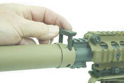 Установка глушителя на винтовку М110 SASS