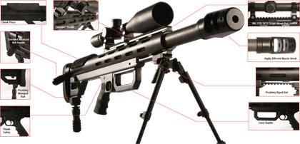 Снайперская винтовка 12,7 мм Grizzly T-50. Новые снайперские винтовки