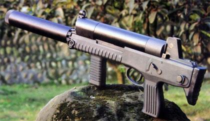 Китайский пистолет-пулемет со шнековым магазином Chang Feng