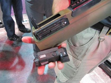 Так выглядит лазерный целеуказатель отдельно от гранатомета M72 LAW