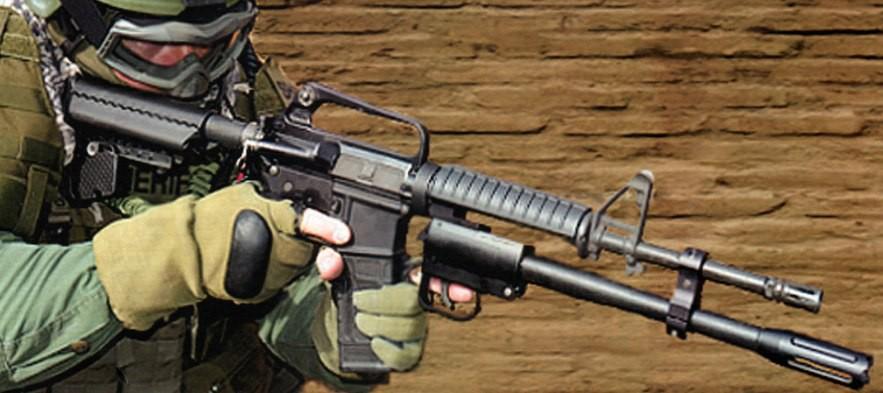 Ten-X Tactical подствольный дробовик TX-12 с крепление к стволу