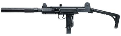 Винтовка с муляжом глушителя на платформе пистолета-пулемета Узи