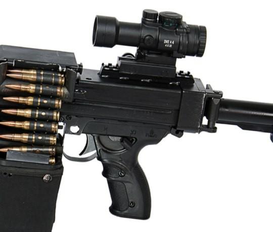 Израильский пулемет NEGEV NG7 с оптическим прицелом