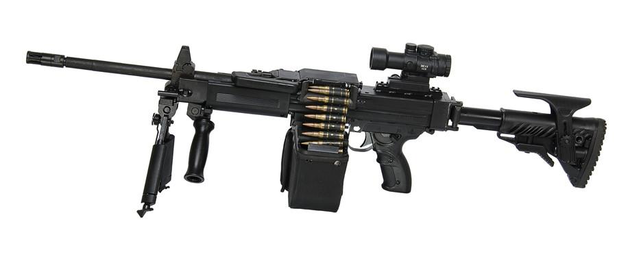 Израильский пулемет NEGEV NG7 с регулируемым прикладом