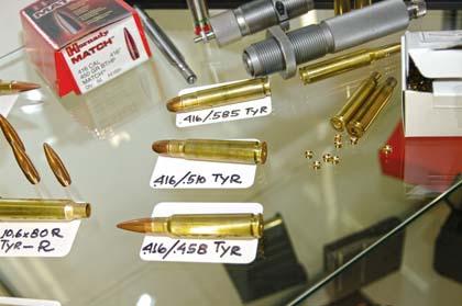 Боеприпасы используемые винтовкой М-2002 от компании Manufaktur Heinrich Fortmeier