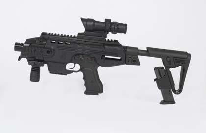 Пистолетный модуль MegaGun компании IWI (Израиль) с оптическим прицелом