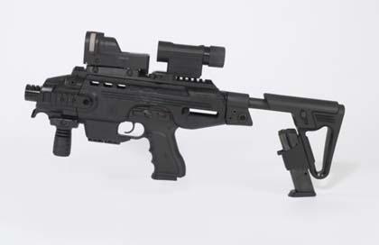 Пистолетный модуль MegaGun компании IWI (Израиль) с комбинированным прицелом