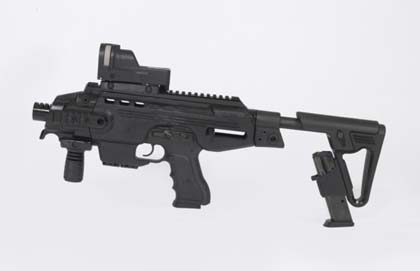 Пистолетный модуль MegaGun компании IWI (Израиль) с коллиматорным прицелом