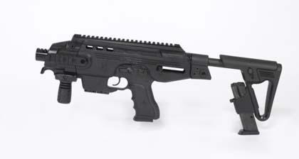Пистолетный модуль MegaGun компании IWI (Израиль) с выдвинутым прикладом