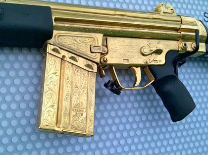 Пакистанская винтовка G3 в золоте