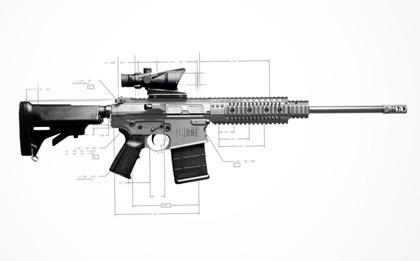 Титановая винтовка NEMO Arms в стиле AR-10