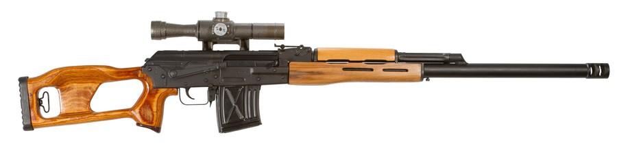 Композитный ствол Teludyne установленный на винтовку СВД