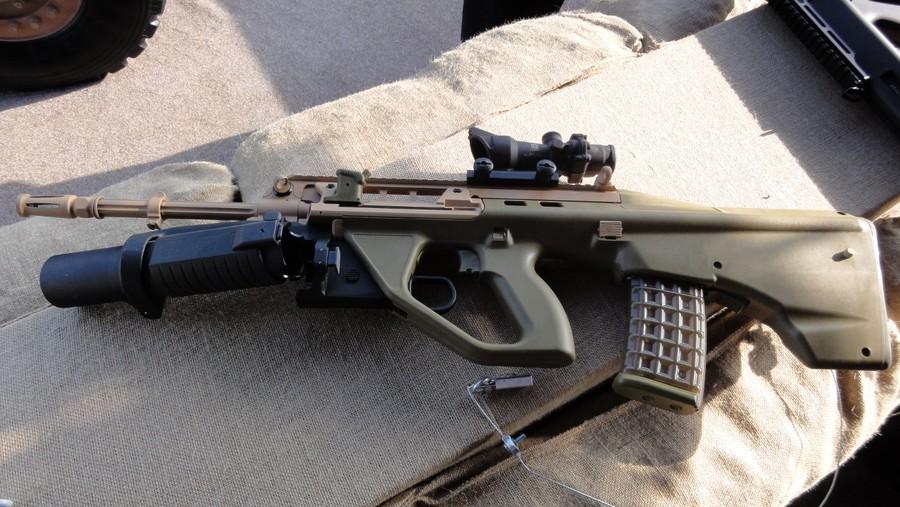 Винтовка EF-88 с гранатометом. Гранатомет открыт