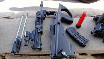 Штурмовая винтовка F90 в разобранном состоянии