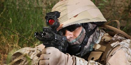 Израильская двухствольная винтовка на базе AR-15
