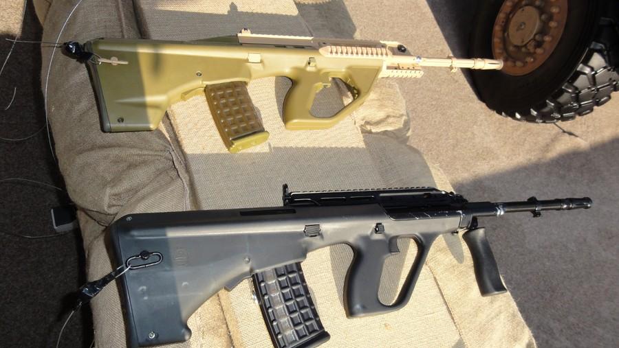 Штурмовая винтовка EF88 (верху) и F88