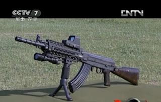 Автомат Type 81 для китайской полиции с планками Пикатинни