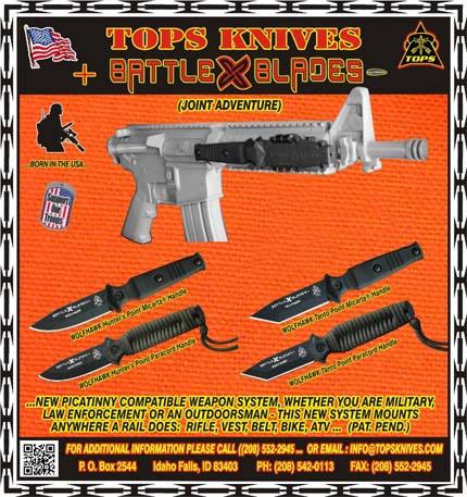 MP4 Wolfhawk - крепежная система ножа к стрелковому оружию