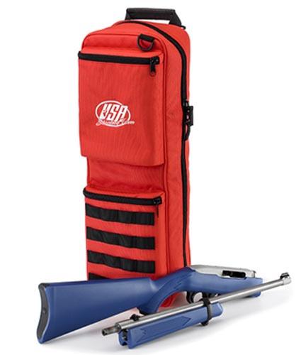 Рюкзак имеет два специальных отсека для укладки разобронной винтовки