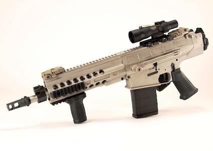 DRD Tactical Paratus-12 со сложенным прикладом