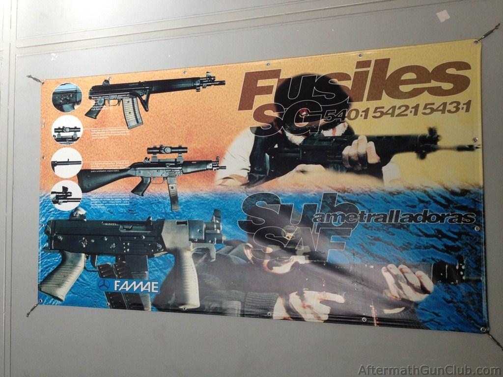 Рекламный постер с продукцией FAMAE