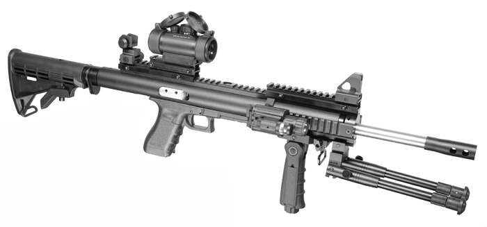 Упакованный по полной программе карабин Glock