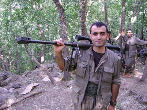 Крупнокалиберная винтовка курдских боевиков