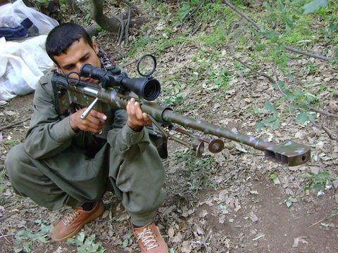 Крупнокалиберная винтовка явно имеет значительный вес