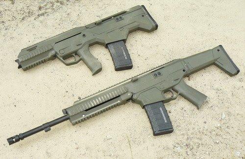 Одна из разрабатываемых винтовок выполнена по классической компоновке, другая выполнена в стиле буллпап