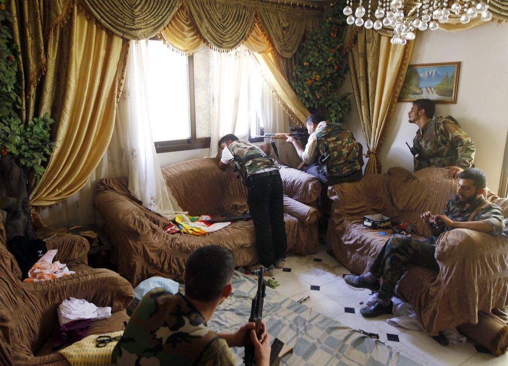 Сирийские инсургенты организовали огневую точку в квартире