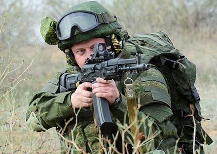 АК-107 с рожковым магазином на 60 патронов