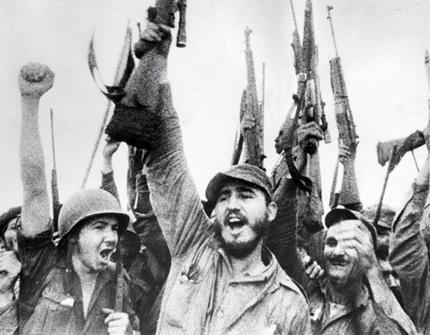 Фидель Кастро. На заднем плане видна винтовка Джонсона М1941