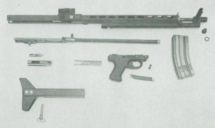 Винтовка LMR (Low-Maintenance Rifle) в разобраном виде состояла из шести основных узлов