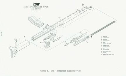 Чертеж винтовка LMR (Low-Maintenance Rifle)