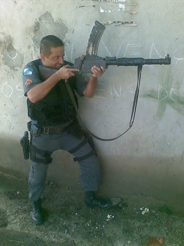 Пулемет Madsen в полиции Бразилии