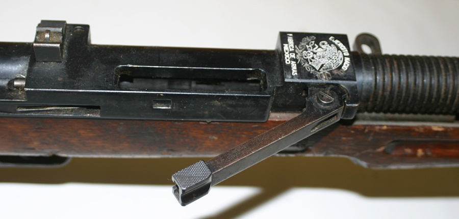Ручной пулемет Mendoza. Рычаг фиксации ствола