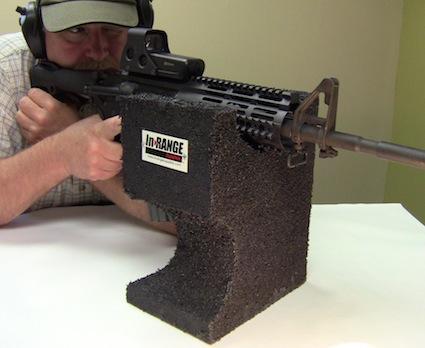 Прицельный блок из переработанной резины от компании Range Systems